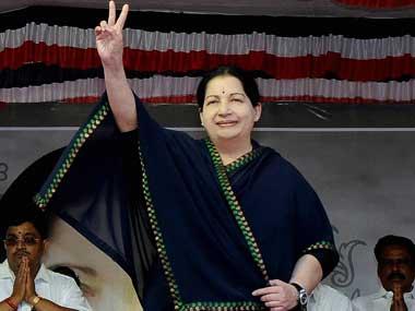 File photo of Jayalalitha. PTI