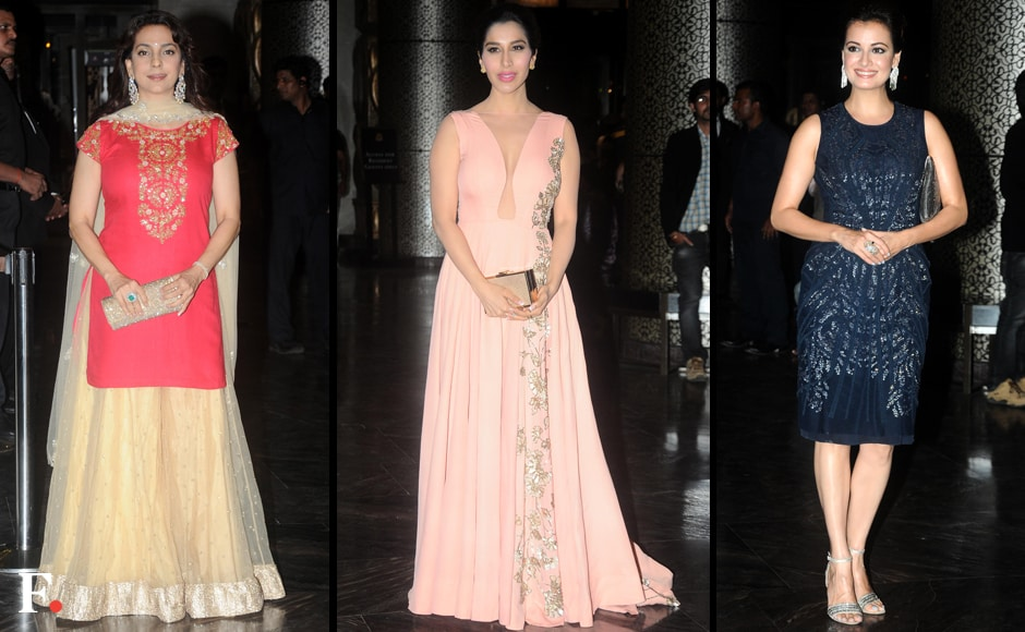 (L to R) Juhi Chawla, Sophie Choudry and Dia Mirza. Firstpost/Sachin Gokhale