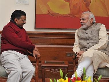 Arvind Kejriwal and Narendra Modi. File photo. PIB