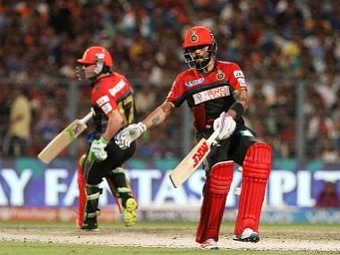 RCB captain Virat Kohli with AB de Villiers. BCCI