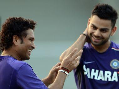 File picture of Sachin Tendulkar (L) & Virat Kohli (R). AFP