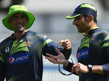 Younis Khan (left) with Misbah-ul Haq. Getty Images