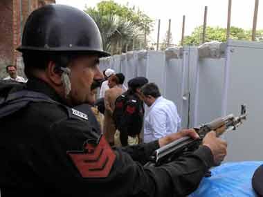 File photo of Pakistan police. AP