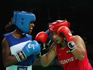 File photo of Pooja Rani of India in the Women's 75kg match. Getty Images