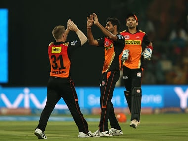 David Warner believes Bhuvneshwar Kumar is a world-class bowler. Sportzpics/IPL