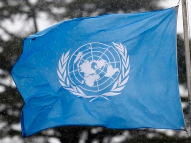 United Nations flag. Reuters
