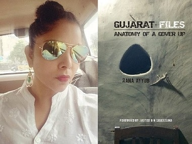 (L) Rana Ayyub; (R) cover of 'Gujarat Files'