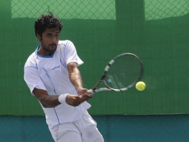 File photo of India's Saketh Myneni. AFP