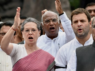 West Bengal MLAs recently signed undertakings pledging their support to the Gandhis - Rahul and Sonia. PTI.