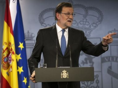Spain's acting Prime Minister Mariano Rajoy. AP