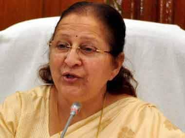 File image of Lok Sabha speaker Sumitra Mahajan. PTI