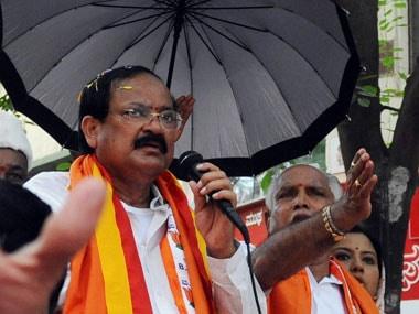 File image of Venkaiah Naidu. AFP