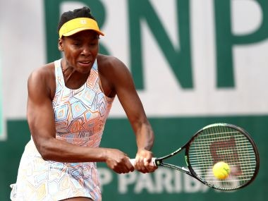 Venus Williams in action at the French Open. Getty