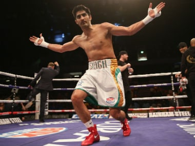 Vijender Singh remained unbeaten in the five matches that he has contested as a professional so far. Getty Images