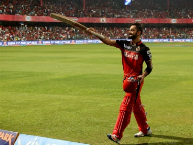 RCB skipper Virat Kohli hammered 12 fours and eight sixes during his knock of 113 off 50 balls. Sportzpics/IPL