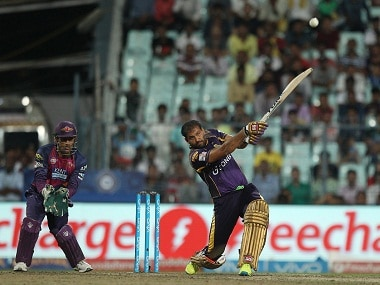 Yusuf Pathan of KKR in action against Rising Pune Supergiants. BCCI