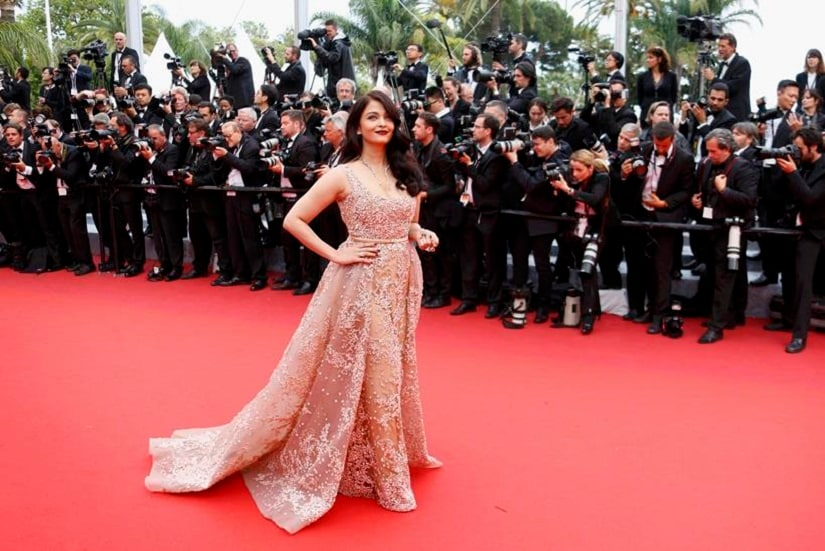 "Bollywood actress Aishwarya Rai poses on the red carpet as she arrives for the screening of the film ""The BFG"" (Le Bon Gros Geant) out of competition at the 69th Cannes Film Festival in Cannes, France, May 14, 2016. REUTERS/Yves Herman"