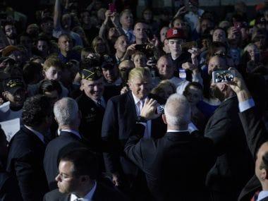 A file photo of Donald Trump. AFP