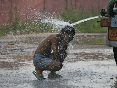 Fighting the heat. Reuters