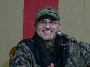 "An undated handout photo released on May 13, 2016 by Hezbollah's media office shows Mustafa Badreddine smiling at an undisclosed location. Hezbollah on May 13, 2016 announced the death of its military commander Mustafa Badreddine in Syria. / AFP PHOTO / Hezbollah media office / STR / RESTRICTED TO EDITORIAL USE - MANDATORY CREDIT ""AFP PHOTO / Hezbollah media office"" - NO MARKETING NO ADVERTISING CAMPAIGNS - DISTRIBUTED AS A SERVICE TO CLIENTS"