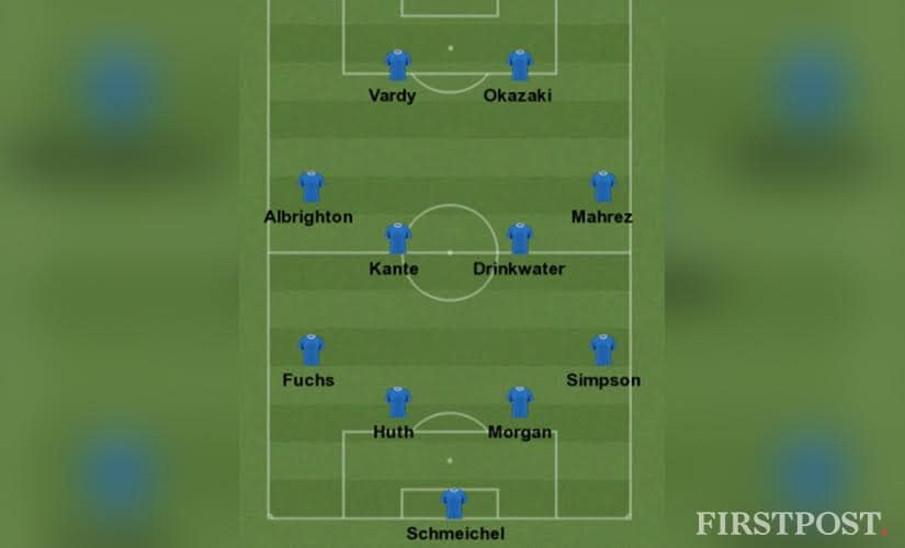 Leicester City's Premier League winning squad. Firstpost