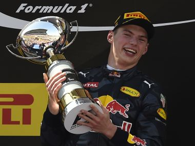 Max Verstappen became the youngest ever winner in F1. AFP