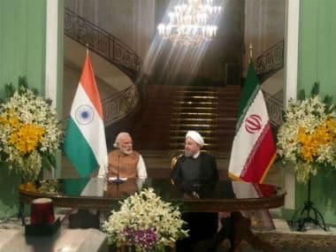 Prime Minister Narendra Modi and Iranian President Hassan Rouhani