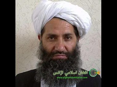 Undated and unknown location photo of new Taliban leader Mullah Haibatullah Akhundzada. AP
