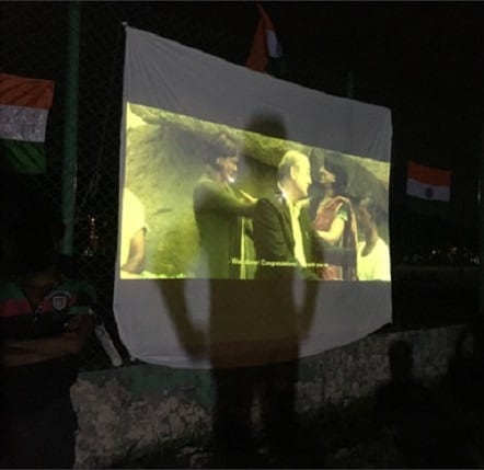 The screening that almost wasn't. Image credit: Vivek Agnihotri