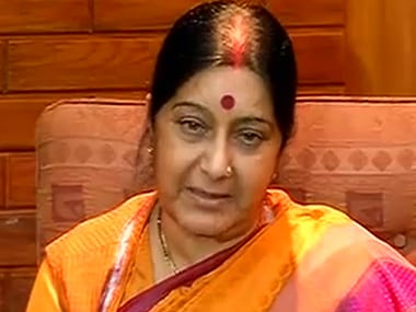 External Affairs Minister Sushma Swaraj. CNN News18