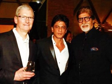 Apple of their eye: Tim Cook gets star treatment from celebs at Shah Rukh Khan's party