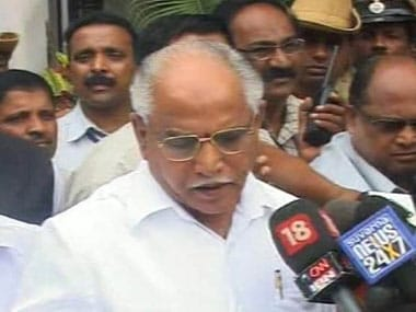 File image of BS Yeddyurappa. News18