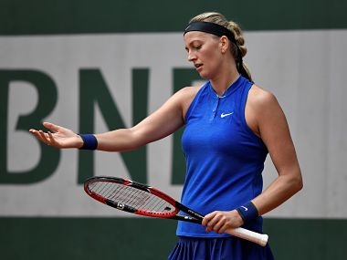 Czech Republic's Petra Kvitova crashed out of the Birmingham WTA tournament. AFP