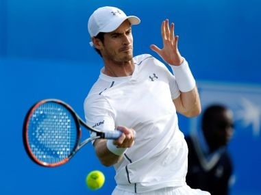 Andy Murray in action at the Queen's Club. AP