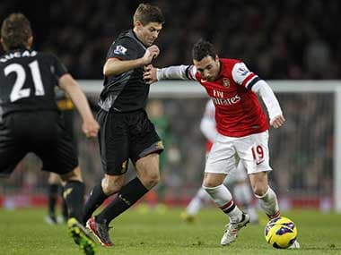 File image of Arsenal taking on Liverpool. AFP
