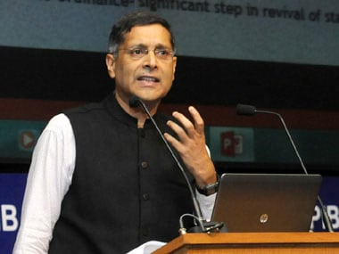 Arvind Subramanian, chief economic advisor. PIB