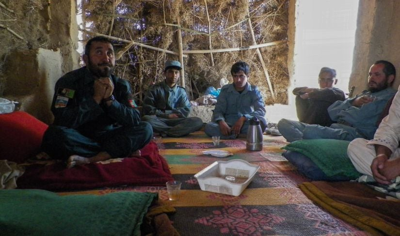 """Afghan police commander Seddiqullah voiced concern about Taliban insider attacks carried out by child sex slaves. """" AFP"""