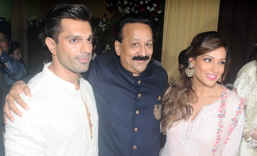 Karan Singh Grover and Bipasha Basu are greeted by Siddiqui