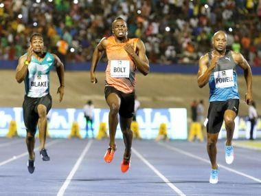 Usain Bolt overcomes 'horrible start' to win the 100m in 9.88 seconds at Racers Grand Prix