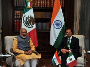 PM Narendra Modi with Mexico President Enrique Peña Nieto. Twitter @IndianDiplomacy