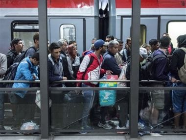 File image of refugees arriving in Germany. AP