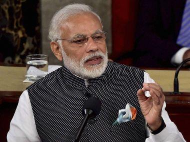 PM Narendra Modi addressing the US Congress. PTI