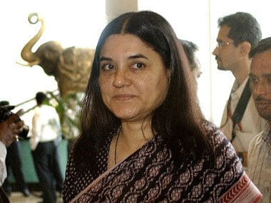File photo of WCD minister Maneka Gandhi. AFP