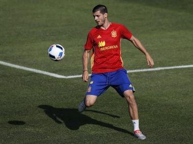 Spain's Alvaro Morata. AP