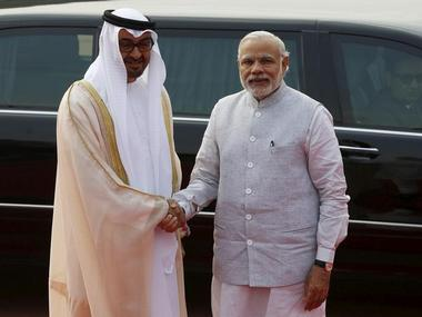 File image of Crown Prince Sheikh Mohammed bin Zayed with Prime Minister Narendra Modi. Reuters