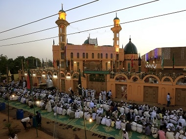 People break their fast during Ramadan at Al-Sheikh Ghareeballah Mosque in Omdurman, Sudan. File photo Reuters