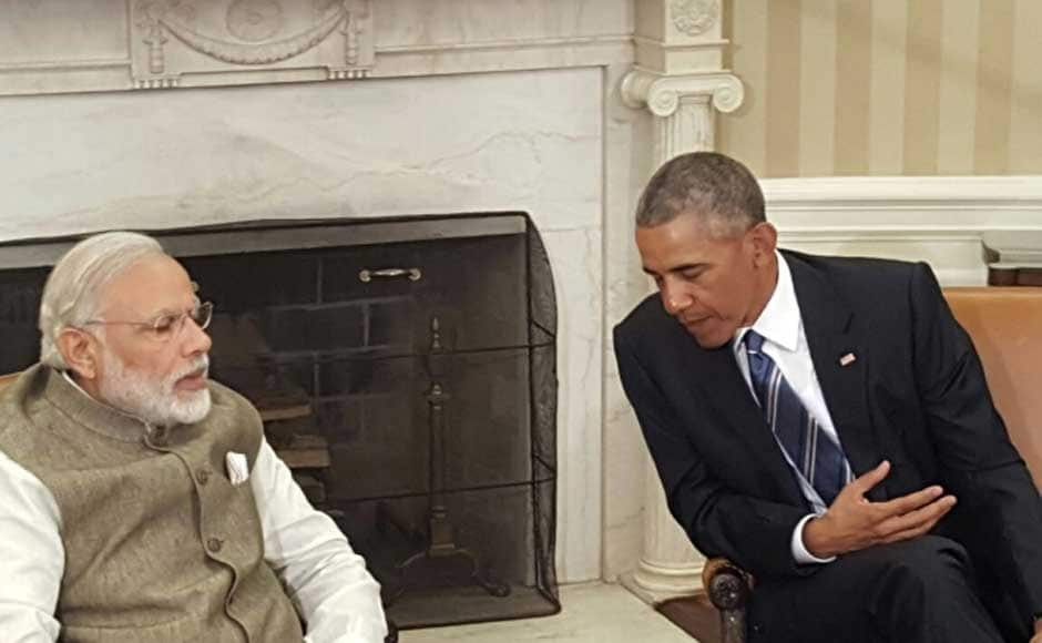 We have worked together on many subjects, says Prime Minister Narendra Modi after meeting US President Barack Obama at the White House. Image courtesy MEA