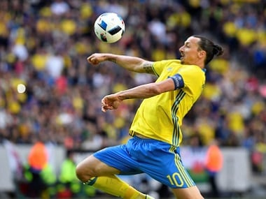 Sweden's Zlatan Ibrahimovic in action. Reuters