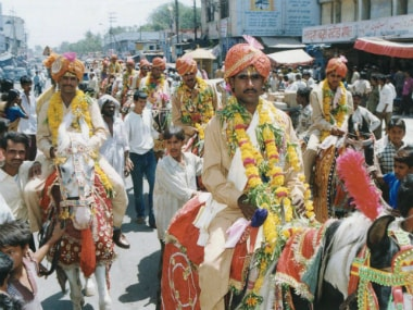 A mass wedding parade in Bhopal. Reuters