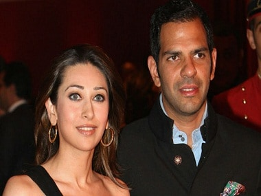 Karisma Kapoor with Sunjay Kapur. Image from IBNlive